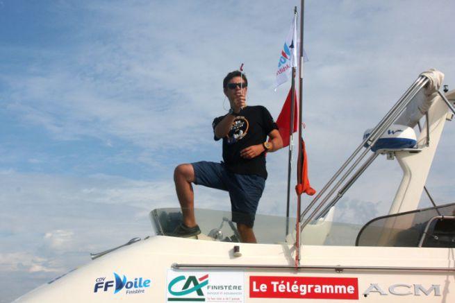 Inizio della regata con la FFVoile