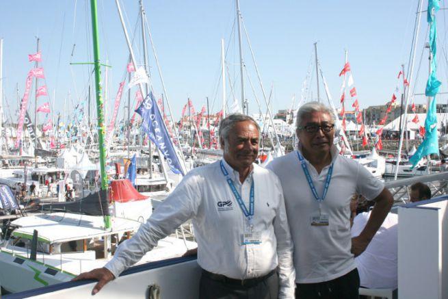 Alain Pochon, presidente dell'Organizzazione Grand Pavois, accompagnato dal rappresentante del porto di Hebei in Cina