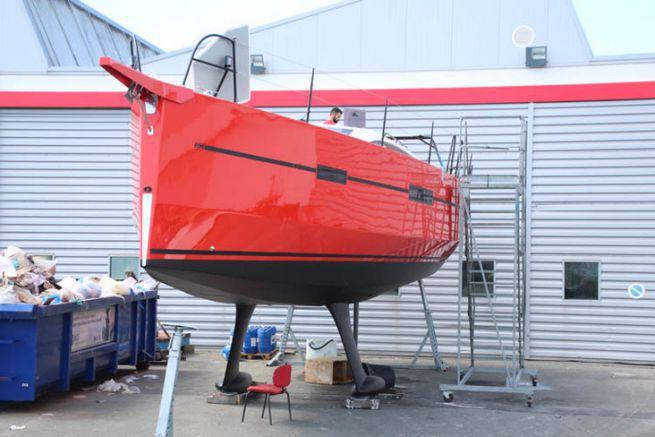 RM Barca a vela in costruzione