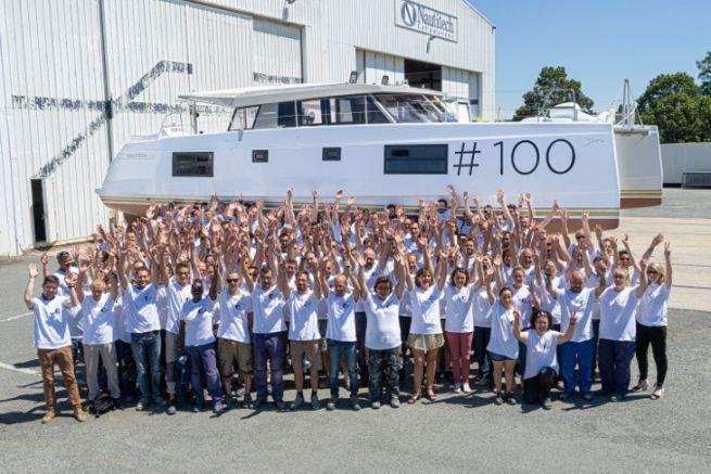 Il team di produzione dei catamarani Nautitech