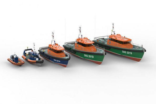 Immagini della futura flotta SNSM proposta dal cantiere navale Couach e Frédéric Neuman