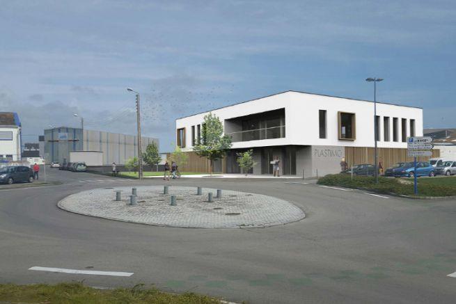 Immagine della futura sede centrale di Plastimo a Lorient