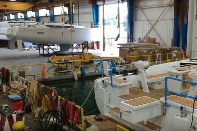 Barche a vela Jeanneau costruite nella fabbrica americana di Marion
