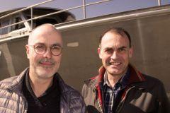 Patrice Passinge e Philippe Brabetz, ex e nuovo leader di Méta (Da sinistra a destra)