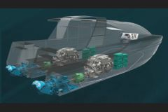 Installation waterjet hybride EHX d'Hamilton
