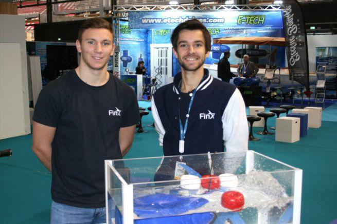 Harold Guillemin (a destra), fondatore del motore FinX e dei suoi propulsori elettrici
